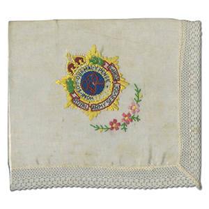 WWI Embroidered Handkerchief - RAS Corps