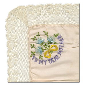 WWI Embroidered Dear Mother Handkerchief