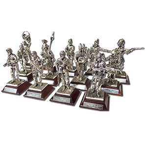 Royal Hampshire Pewter Military Figurines x 12