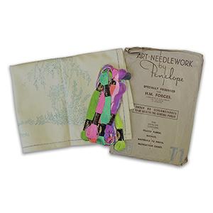 WW2 Needlework Kit - Tray/Trolley Cloth