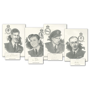 4 WWII RAF VC Veteran Prints signed