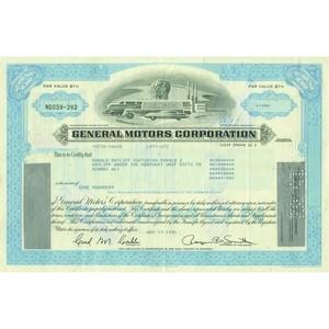 General Motors Corp. Share Certificate