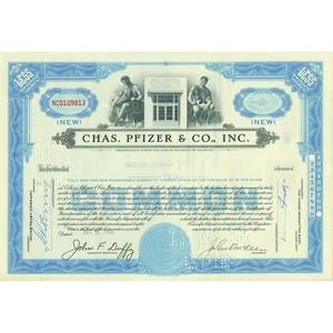 Chas. Pfizer & Co. Inc. Share Certificate