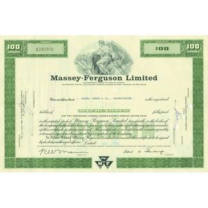 Massey-Ferguson Ltd Share Certificate