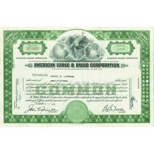 American Cable and Radio Corp. Share Certificate