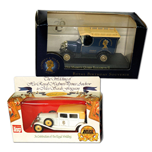 Lledo HM Queen Elizabeth II 70th Limited Edition Car & 1986 Royal Wedding Car