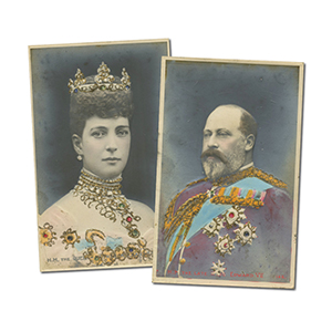 2 Edward VII & Queen Alexandra Bas Relief Postcards