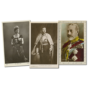 30 King George V & Queen Mary Postcards