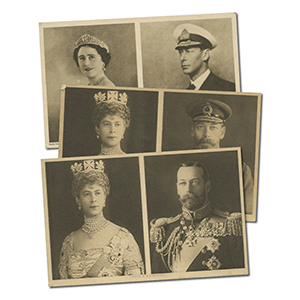 3 WWI/WWII Royalty Pre-Printed Signed Postcards