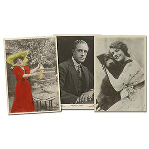 32 Postcards Vintage Actresses & Actors
