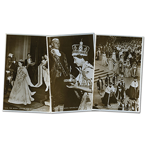 9 Queen Elizabeth II Coronation Postcards