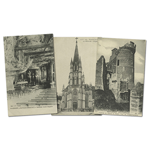 17 vintage French WWI  Rouens bomb damage postcards