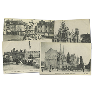 26 vintage French WWI  Cathedral postcards
