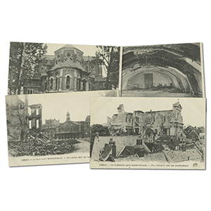 24 vintage French WWI  Arras  bomb damage postcards