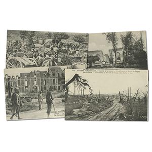 20 vintage French WWI  Bataille de la Somme postcards