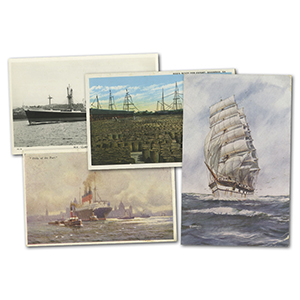 25 vintage Boats & Ships postcards