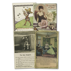 22 vintage verse postcards