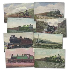 140 British Locomotives Postcards