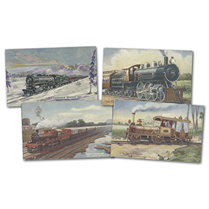 26 Foreign Locomotives Postcards