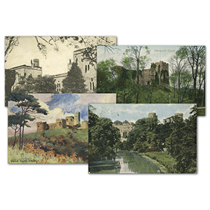 36 Vintage Castle Postcards
