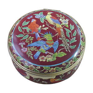 Halcyon Days Tropical Birds Enamel Box