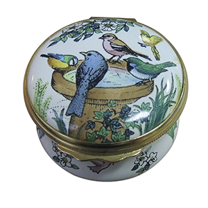 Halcyon Days Garden Birds Enamel Box