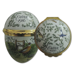 Halcyon Days 1986 Easter  Enamel Box
