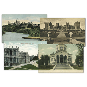 24 Vintage Windsor Castle Postcards