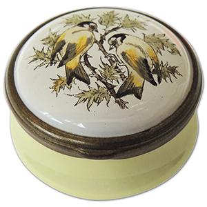 Halcyon Days Goldfinches Enamel Box