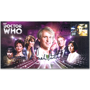 Doctor Who Fifth Doctor & Assist Signed Sarah Sutton FDC