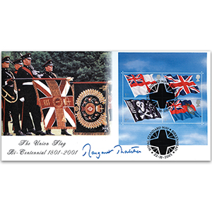 2001 Flags - Signed by Margaret Thatcher