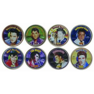 Elvis Hits set of 8 Colourised Quarters