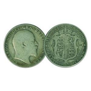 1902 Edwardian Silver Half Crown