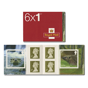PM23 2010 Mammals 6 x 1st Stamp Booklet