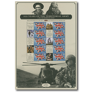2008 100 Years Territorial Army Commemorative Sheet