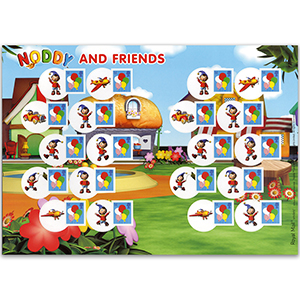 2008 Smilers for Kids - Balloons/Noddy - Mint Stamp Sheet