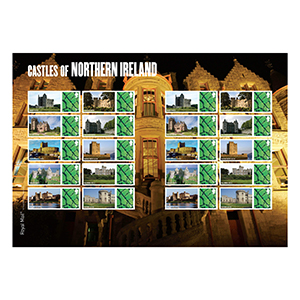 2009 Castles of Northern Ireland Royal Mail Commemorative Sheet
