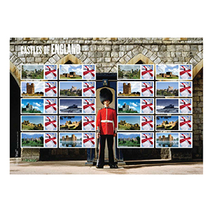 2009 Castles of England Royal Mail Commemorative Sheet