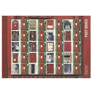 2009 Post Boxes Royal Mail Commemorative Sheet