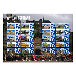2009 Castles of Scotland Royal Mail Commemorative Sheet