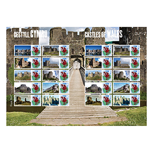 2010 Castles of Wales Royal Mail Commemorative Sheet