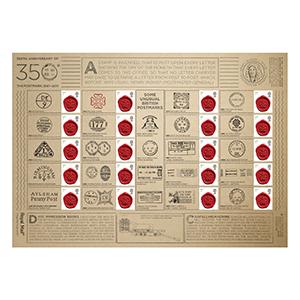 2011 350th Anniversary Postmark Royal Mail Commemorative Sheet