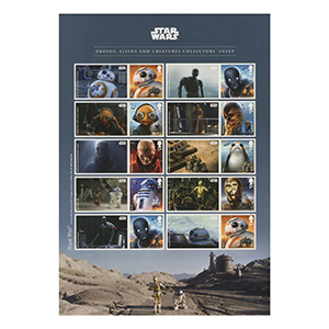 2017 Star Wars Collectors Royal Mail Commemorative Sheet