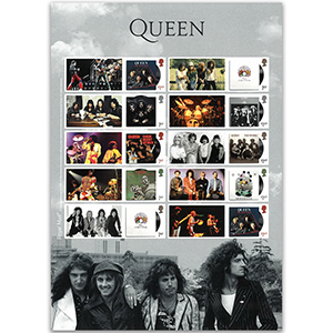 2020 Queen Album Cover Collectors Sheet