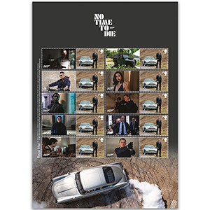 2020 No Time To Die Collectors Sheet
