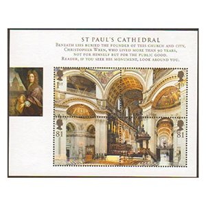 2008 Cathedrals (MS2847) miniature sheet
