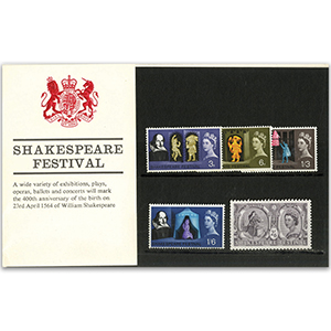 23/4/1964 Shakespeare Presentation pack