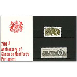 19/7/1965 700th Anniv Parliament Presentation pack