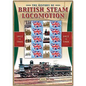 British Steam Locos 1822 - 1866 GB Customised Stamp Sheet