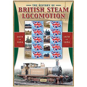 British Steam Locos 1870 - 1894 GB Customised Stamp Sheet